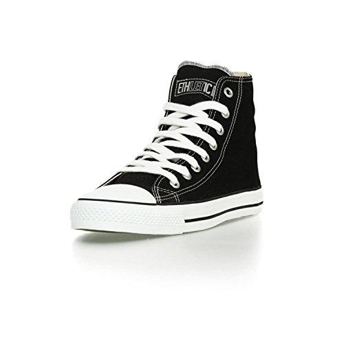 Ethletic Sneaker vegan HiCut – Farbe jet black / white aus Bio-Baumwolle – high Sneaker - 2
