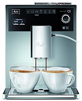 Melitta Caffeo Ci Macchina per Caffé e Bevande Calde Automatica, 2 Cups, Acciaio Inossidabile, Argento