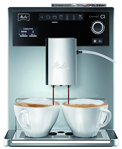 Melitta Caffeo CI E 970-306, Kaffeevollautomat, Hochglanz-Lackierung in Edelstahloptik, Silber