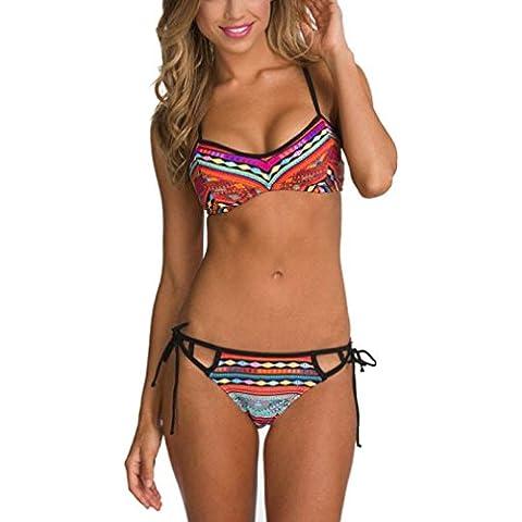 GAXUVIBikiní de las mujeres del traje de baño push-up Sujetador relleno traje de baño ropa de playa