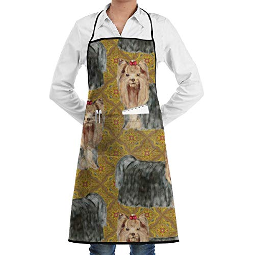Drempad Schürzen Yorkies Apron Kitchen Cooking Commercial Restaurant Apron for Women and Men-Perfect for Gifts