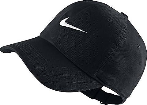 Nike Heritage 86 Swoosh Casquette Enfant Noir/Blanc FR : Taille Unique (Taille Fabricant : Taille Unique)
