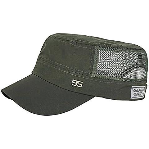 bao Core planas para hombre de tapas Fast Dry Sun Hat verano sola capa Sombrero de Thin Ourdoor Sol Caps Sombreros de Sun de ventilación para viaje Malla Ejército Trucker sombreros Verde verde