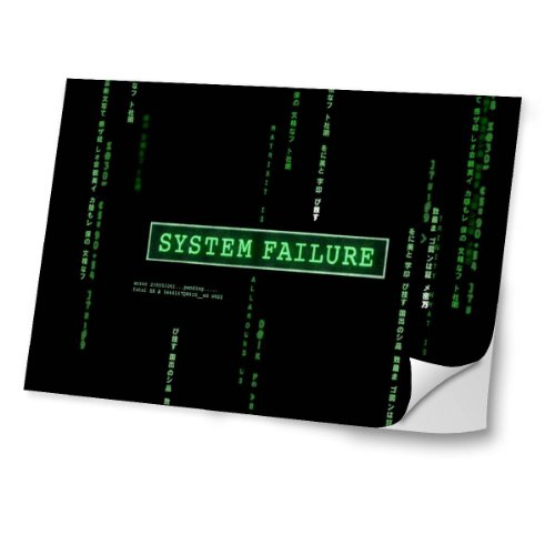 cosas-10051-system-failure-diseno-mejor-pegatina-de-vinilo-protector-con-efecto-cuero-extraible-adhe