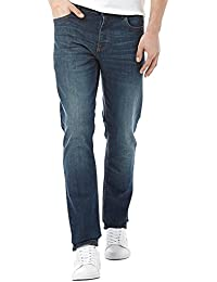 Lee Cooper Basicon Dark Wash Straight Leg Mens Jeans