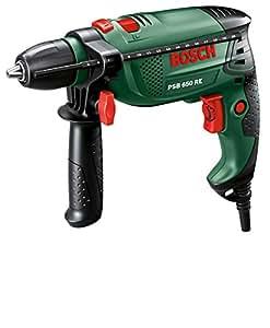 Bosch DIY Schlagbohrmaschine PSB 650 RE, Tiefenanschlag, Zusatzhandgriff, Koffer (650 W, max. Bohr-Ø: Holz: 30 mm, Beton: 14 mm)