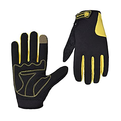OFT Warm Winter Snowboard Skiing Sports Windproof Waterproof Gloves (M, yellow)