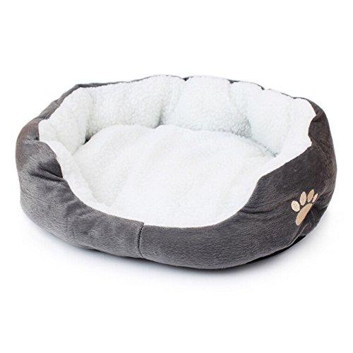 Saflyse Schöne Tierbett Hundebett Haustier Katzenbett Hundesofa Katzensofa (Grau) - 2
