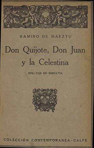 Don Quijote, Don Juan y la Celestina eBook: de Maeztu, Ramiro ...