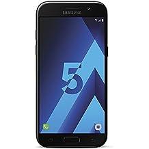 Samsung Galaxy A5 2017, Smartphone libre (5.2'', 3GB RAM, 32GB, 16MP/Versión francesa: No incluye Samsung Pay ni acceso a promociones Samsung Members), color Negro