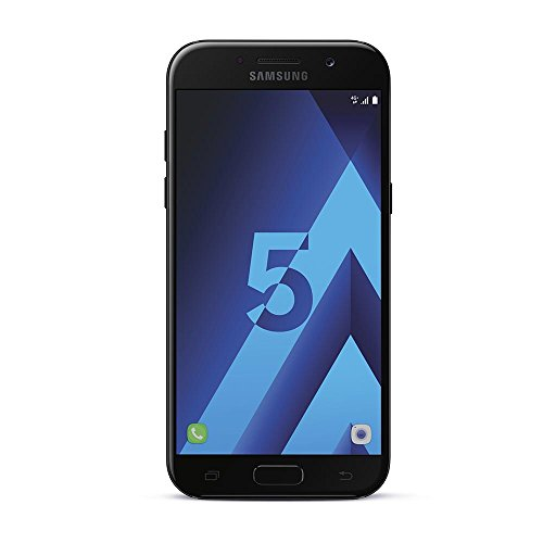 Samsung Galaxy A5 2017, Smartphone Libre (5.2'', 3GB RAM, 32GB, 16MP/Versión Francesa: No Incluye Samsung Pay ni Acceso a promociones Samsung Members), Color Negro