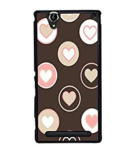 Hearts 2D Hard Polycarbonate Designer Back Case Cover for Sony Xperia T2 Ultra :: Sony Xperia T2 Ultra Dual SIM D5322 :: Sony Xperia T2 Ultra XM50h