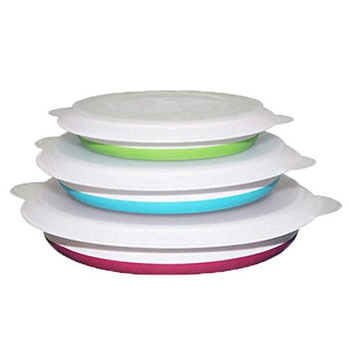meta-u- cuenco plegable plegable alimentos container- BPA Free- compacto y espacio saving-...