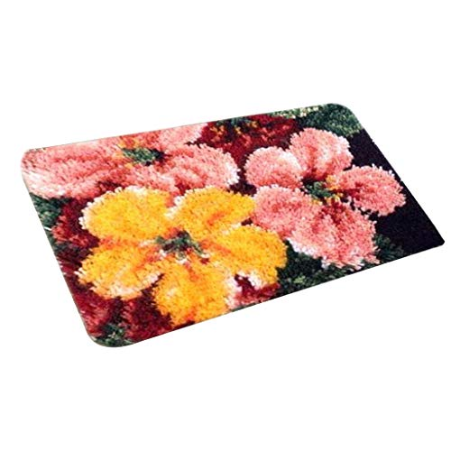 IPOTCH Knüpfteppich Knüpfset für DIY Handarbeit Teppich mit schöne Bilder 58x40 cm, Latch Hook Rug Kit - ZD1009 -