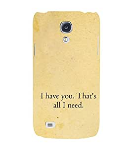 Love Quote 3D Hard Polycarbonate Designer Back Case Cover for Samsung Galaxy S4 i9500 :: Samsung I9500 Galaxy S4 :: Samsung I9505 Galaxy S4 :: Samsung Galaxy S4 Value Edition I9515 i9505G