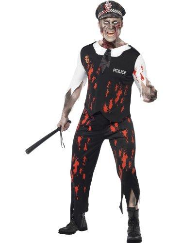 Smiffy's 38882M Zombie-Polizistenkostüm, M, farblos