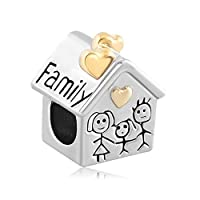 SexyMandala Fit Panodra Charms Mom Dad Daughter Son Girl Boy Pet Pig Family House Bead