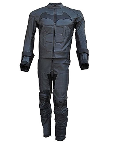 classyak da uomo Batman Arkham Cavaliere Oscuro in vera pelle giacca da moto - Tuta e pantaloni Cow Leather Grey L Chest