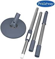 Primeway® Rotating Spin Mop Handle Rod Set with Disc, 125cm (Grey)