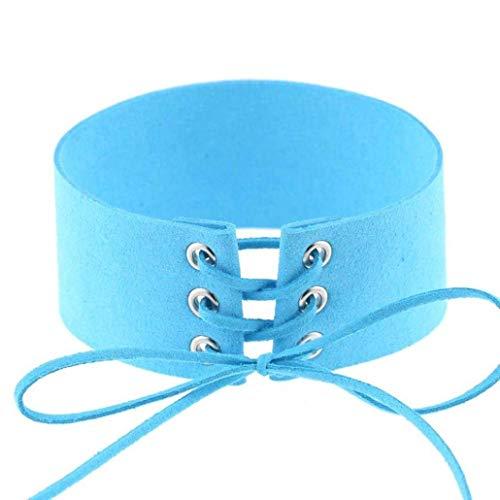 TINGSU Gothic Choker Halskette Schmuck für Frauen Mädchen (schwarz)
