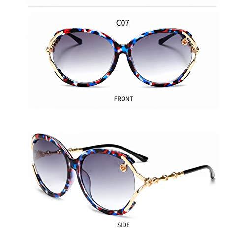 SKCLBOOS Sonnenbrillen Zonnebril Dames Circle Lens Sonnenbrillen Oculos Sunglasses Feminino Round Women Shades Trends 2019 Damen Übergroße Sonnenbrille