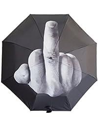 Parapluie Automatique Creative Fuck the Rain Umbrella Le doigt moyen vertical Modèle de geste compact mini by KAYI
