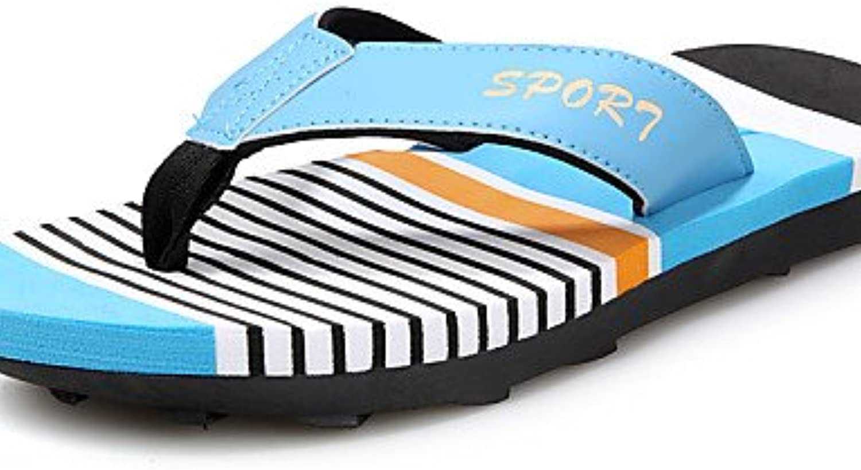 NTX/hombres de zapatos al aire libre/Casual Napa piel sandalias azul/amarillo/rojo/azul, hombre, blue-us10 / eu43  -