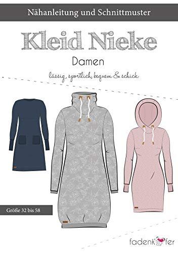 Brittschens Stoffe und Zutaten Papierschnittmuster Kleid Nieke Erwachsene - Kleid - nähen für Damen - Größe 32-58