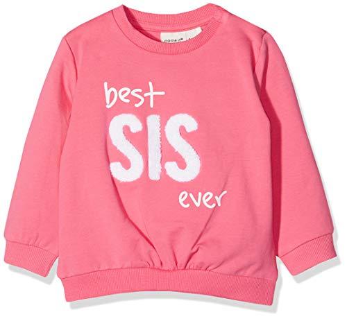 NAME IT Baby-Mädchen Sweatshirt NBFDEDA SWE O-Neck UNB, Rosa (Camellia Rose), (Herstellergröße: 74)