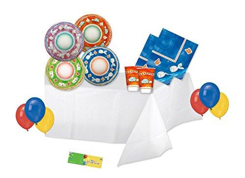 Big Party kit n 4 coordinato tavola Vietri Sul Mare con palloncini