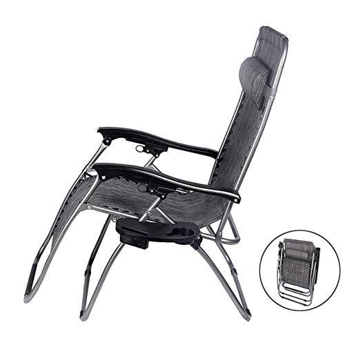 Deck-kissen-lagerung (CCDZDM Patio Zero Chair Für Schwere Menschen, Outdoor-Lounge-Stühle Mit Kissen Und Utility Tray Folding Recliner Für Deck Beach Yard, Unterstützung 250 Kg)