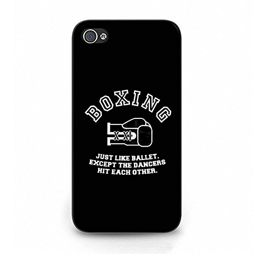Boxing Iphone 4/4s Case Hybrid Durable Boxing Phone Case Cover for Iphone 4/4s Fight Retro Color114d