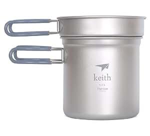 Keith Titanium Topf im Freien Kochgeschirr Camping Pot