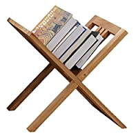 LYXPUZI Oak floor magazine rack - magazine rack newspaper rack storage rack - picture book rack information rack