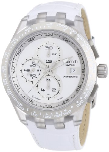 SWATCH CHRONO AUTOMATIC COLLECTION Right Track White SVGK406 (Swatch Uhren Automatic Herren)
