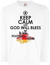 Niños/Niñas Camiseta Dios bendecirá al Equipo Nacional de Fútbol de Alemania, el Campeonato de Rusia 2018, la Copa Mundial, el Aficionado…