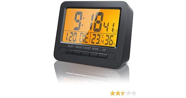 Bearware Réveil Numérique Alarme de Voyage Écran LCD 2,7