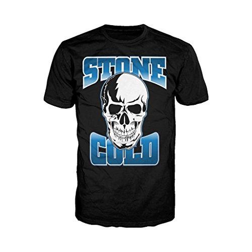 WWE STONE COLD STEVE AUSTIN da uomo ufficiale con Logo t shirt (Nero) Black XX-Large