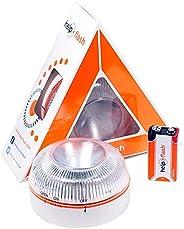 HELP FLASH HFAA-01 Estandar Luz de Emergencia Autónoma Señal V16 de Preseñalización de Peligro, Homologada, Au