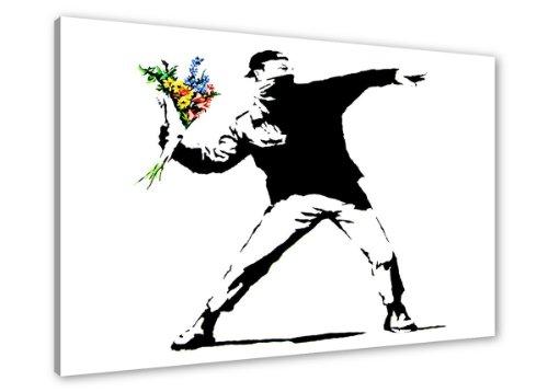 80 x 60 cm Cuadro Lienzo Banksy 4170-SCT - Imagen/Impresion/Pintura