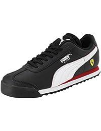 Puma Unisex's Sf Roma Jr Black White-Rosso C Sneakers