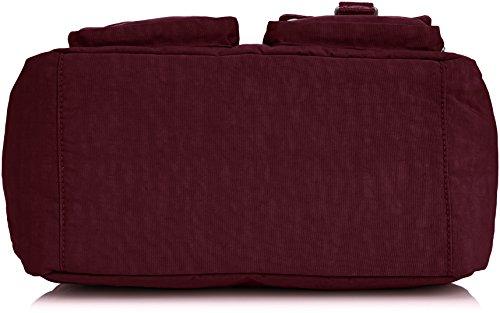 Kipling - DEFEA SW, Borsa a spalla Donna Rosso (Rot (Crimson A12))