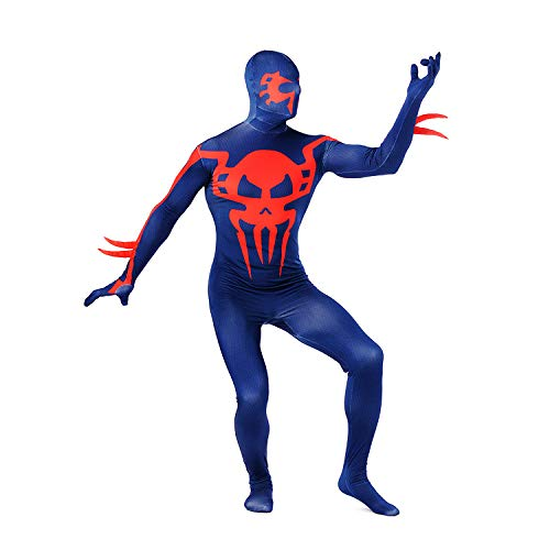 DSFGHE Lycra Spandex Teufel Spiderman Kostüm Cosplay Volle Mantel Färben Strumpfhosen Verbunden Halloween Kostüm Party Leistung Party Kostüm,Bluered-M