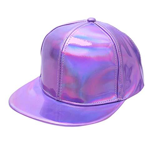 Street Fashion Hut Mann Frauen Baseball Einfarbig Fluoreszenz Hut Cap WunderschöN Flacher Krempe Hip Hop Hut Outdoor Reflektierende Aufkleberkappe ReitmüTze Wanderhut SportmüTze