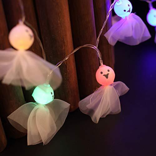 Karneval Kostüm Haunted - LED Leuchten Elf Doll Lichterketten Halloween Haunted House Kürbis für Halloween-Partys, Karneval, Feste Anlässe,Halloween Dekoration Requisiten Geschenke (D)