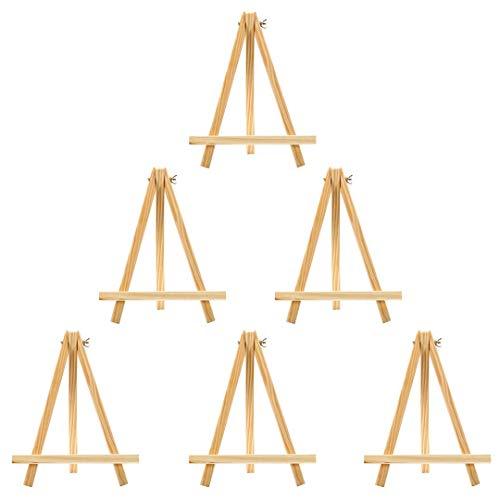 Mini Holz Künstler Staffelei Triangle Craft Hochzeit Stativ Tisch Ständer Display Foto Malen Halter 6-24x 18cm