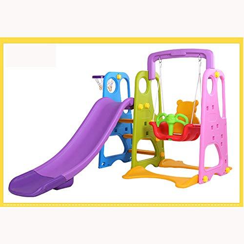 PQ&D Tobogán Giratorio para niños, Ampliación Interior Ampliación Casa Multifuncional Gimnasio para bebés Guardería de Infantes Juguete deslizable