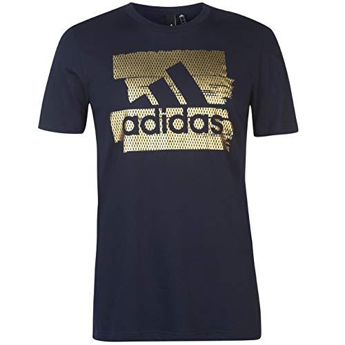 Adidas mh bos foil t, t-shirt uomo, legend ink, xl