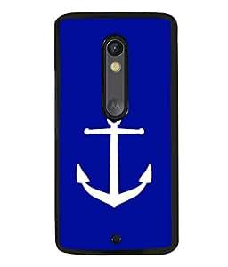 printtech Ship Anchor Back Case Cover for Moto X Pure Edition