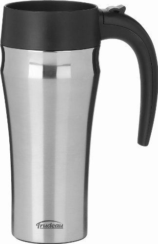 Trudeau Travel Mug (Trudeau Journey Stainless Steel Travel Mug, 16-Ounce by Trudeau)